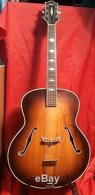 1950's Levin 22 Semi Acoustic Guitar Made In Sweden Nice Player Jazz Classic