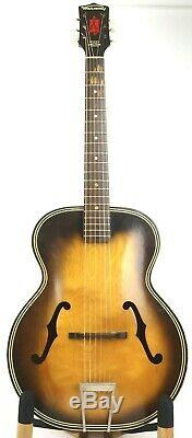 1960 Vintage Harmony Archtop Acoustic Guitar With Case Nice! H1213 MADE IN USA