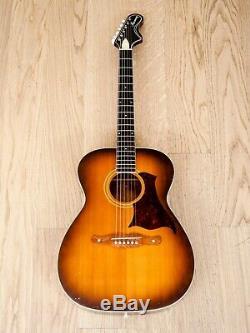 1969 Harmony H167 Vintage Acoustic Guitar Sunburst USA-Made
