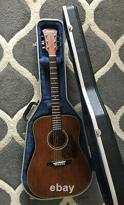 1980 Ibanez S300SV Acoustic Guitar Made in Japan + Hard Case RARE