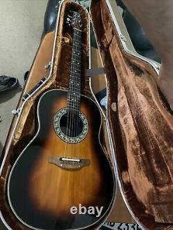 1981 Ovation 1612 Balladeer Acoustic Electric Guitar Made In USA