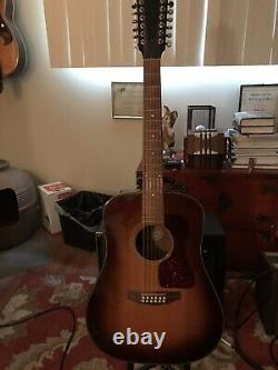 1996 Guild D25-12. Made In Westerly RI USA. VG Condition withOHSC and added pickup