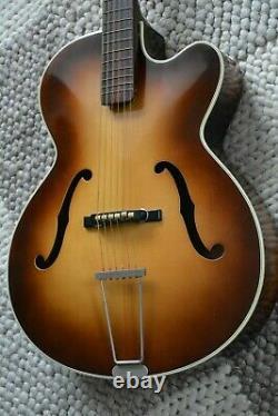 Alte Gitarre Guitar Höfner Hofner Archtop Jazz Schlaggitarre Made in Germany