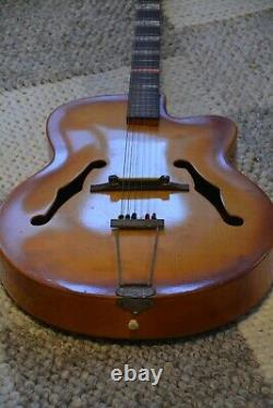 Alte Gitarre Guitar Hopf Schlaggitarre Archtop Made in Germany