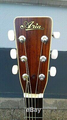 Aria 6 string flattop gitarre guitar vintage made in Japan