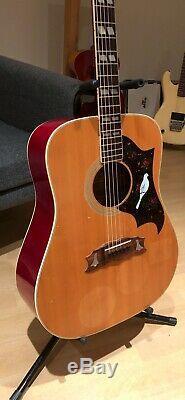 Aria 7460 Gibson Dove / Hummingbird Copy Made In Japan 70s Rare