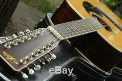 Aria 9214 12 String Acoustic Guitar MIJ 1980's Vintage Hand Made in Japan
