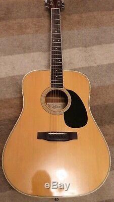 Aria 9400 Acoustic Guitar 1970s, Made In Japan, All Solid Woods