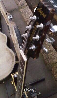 Aria Ta 30 Semi Acoustic Guitar Made In Japan No Pickgaurd Epiphone Hard Case