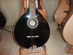 Black Irish Bouzouki, made in Romania by Hora, solid wood