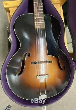 CREST Archtop Guitar 30s probably made by Harmony. Withhard case