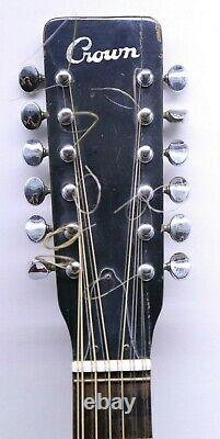 Crown 627.12 Vintage 12 String Acoustic Guitar Made In Japan