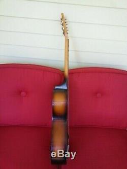 Egmond Stadium acoustic parlor guitar vintage 1960s made in Holland + gigbag