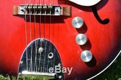 Egmond semihollow vintage electric guitar made in the netherlands 1960s