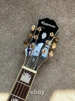Epiphone j200 SCE Electro Acoustic guitar Black With Custom Made Hard Case