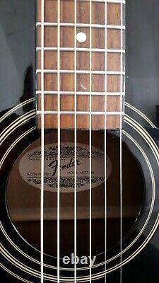 Fender AG-22 Acoustic Guitar Black Used Made in Korea