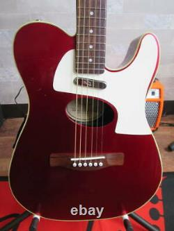 Fender Telecoustic Deluxe Red Made in 2008 Electric Acoustic Guitar