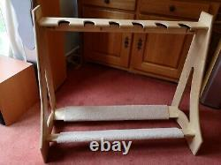 Hand made guitar rack to hold multiple guitars including acoustic and electric