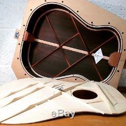 Handmade Luthier Made J-50 J-45 Round Shoulder Acoustic Guitar Hard Case