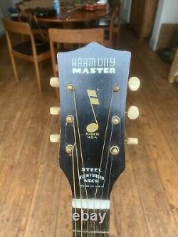 Harmony Master Arch Top Acoustic Guitar Made in USA