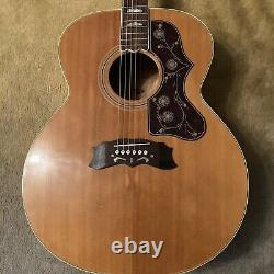 Hondo J200 HJ200A Jumbo Acoustic Guitar Korean Made Vintage 70s With Upgrades