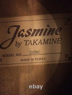 Jasmine Takamine TS99C Electro Acoustic Guitar Made in Korea 1993, Walnut