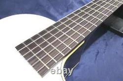 K. YAIRI KYF-CTM F-Hall Electric Acoustic Nylon Guitar White Made in Japan withHC