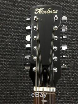 Kimbara 180/S 12 String Acoustic Guitar Made In Japan Rare Vintage