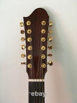 Left handed 12 string guitar. Hand made. Cuban mahogany back, sides and neck