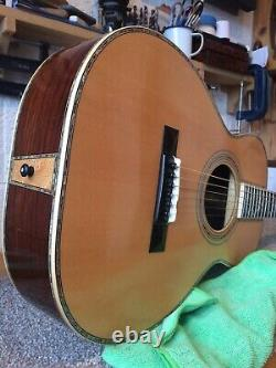 Luthier Hand Made Tree Of Life 0-45 Acoustic Parlour Guitar