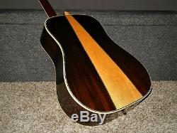 Made In 1972 Kiso Suzuki W350 Absolutely Superb D45 Style Acoustic Guitar