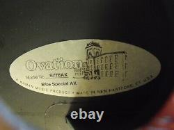 Made in AMERICA Ovation Elite Special AX semi-acoustic guitar