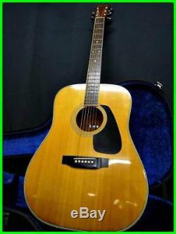 Morris acoustic guitar MD-505 with Japanese made HC rare useful EMS F/S