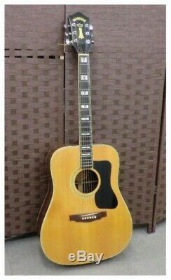 Nashville N50D Natural Acoustic Guitar Made in Japan with Hard Case Super Rare