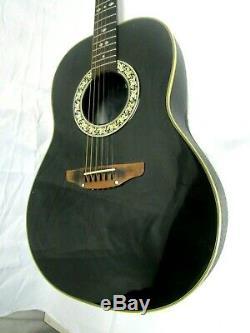 Ovation Acoustic Guitar Black USA Model# 1112 made in USA USA original Hard Case