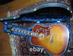 Rare Gibson Hummingbird Custom Acoustic Guitar Made in USA 1973 with Hard Case