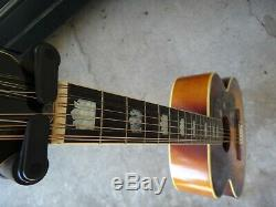 Rare Jagard 12 String Acoustic Guitar Made In Japan with case