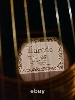 Rare Vintage Laredo 80F Acoustic Guitar and case. Made in Japan (1970s MIJ)