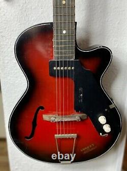 Rosetti lucky 7 vintage electric semi acoustic guitar. Rare made in Holland
