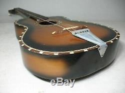 Seminara Francesco Acoustic Folk Sunburst Guitar Made In Catania Italy Project