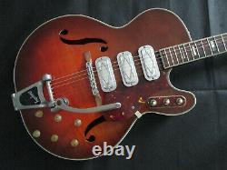 Silvertone 1454 semi acoustic guitar 1960's made in USA