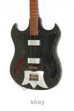 Soviet Electric guitar bass semi-acoustic guitar HAND-MADE Gulliver 6 string