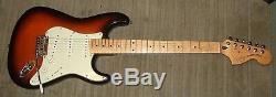 Squier Standard Stratocaster, made in China. Good almost unmarked condition
