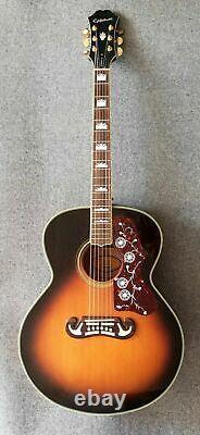 Stunning Epiphone EJ200 VS Acoustic Guitar Made in Korea Peerless Built J200