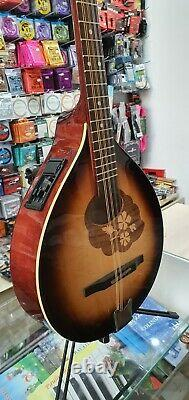 Sunburst Irish Bouzouki with EQ (built in pick-up), made by Hora, solid wood
