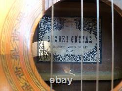 Suzuki Model 60 Acoustic Guitar by the Kiso Suzuki Violin Co. Made in Japan
