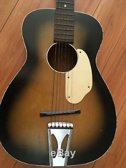 Vintage 1950s/ 60s Fender by Harmony Parlor Size Acoustic Guitar- Made in USA