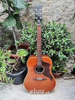 Vintage 1967 EKO RANGER 6 VI Acoustic Guitar Made ITALIA Retro Italy GREAT SOUND