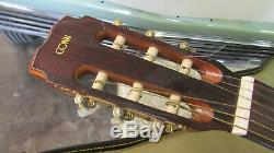 Vintage 1970's C. G. CONN C200 6 String Classic Acoustic Guitar made in Japan