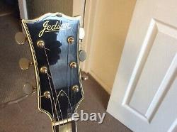 Vintage 1970s black Jedson guitar. Made in Japan MIJ